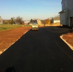 freshly paved blacktop