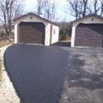 Before and after photos of driveway paving