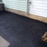 closeup of detail on paving job for house