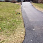 closeup of driveway after paving