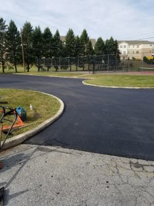 freshly laid blacktop
