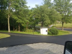 paved street & parking area