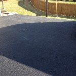 closeup of blacktop after paving