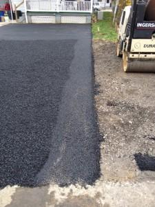 closeup of driveway after paving