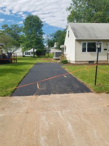 roped off driveway